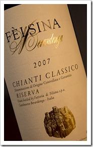 Felsina Chianti Classico Riserva 2007 - Click for a closeup