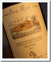 Donnafugata Ben Rye 2007, 2008 -- Click for a closeup