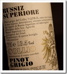 Russiz Superiore Pinot Grigio 2009 - Click for a closeup