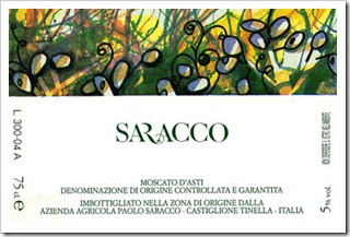 Che Bella -- Saracco Moscato d'Asti 2010 is superb