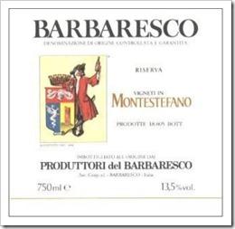 My favorite Produttori wine - Montestefano Riserva 2005