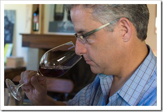 *sniff sniff* -- you smell that? Yours truly checking out new vino