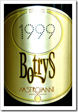 Mastrojanni Botrys is divine and a rare find