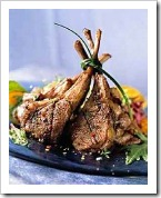 Delicious agnello scottaditto -- perfect with Mastrojanni Brunello