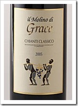 Distinctive labels at Molino di Grace