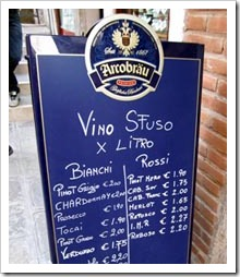 Sfuso wine shops abound in Venice