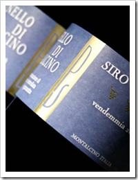 Siro Pacenti Brunello di Montalcino (photo courtesy of Englewood Wine Merchants)