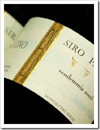 Siro Pacenti Rosso di Montalcino (photo courtesy of Englewood Wine Merchants)