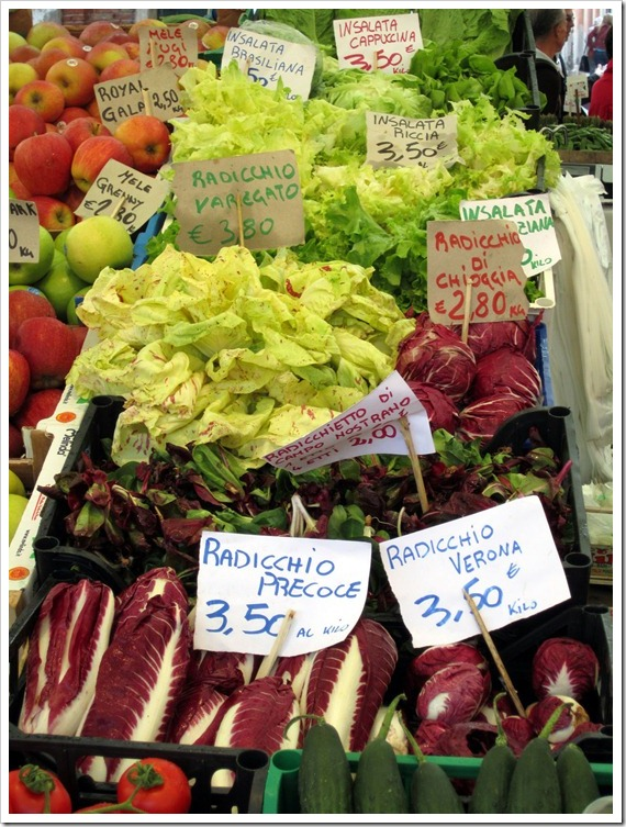 So many radicchio at the Venice Vegetable Market