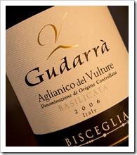 Bisceglia Gudarrà Aglianico del Vulture 2006 - click for a closeup