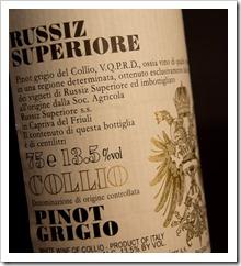 Russiz Superiore Pinot Grigio 2009 - Click for a closeup