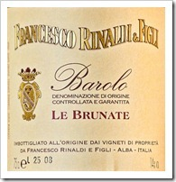 Example of an Italian DOCG Wine - Rinaldi Barolo Le Brunate