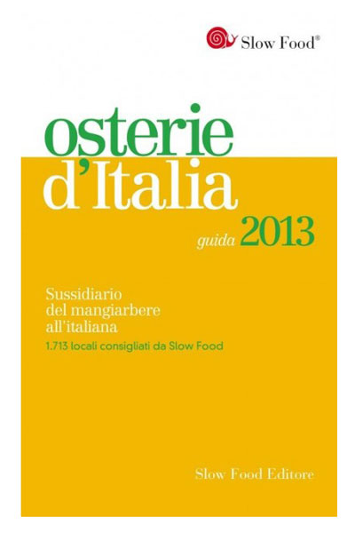 Slow Food Osterie d'Italia 2013