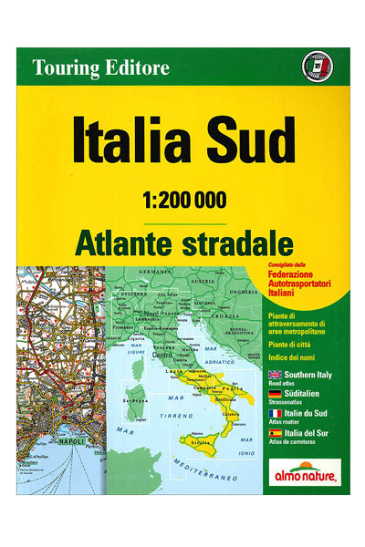 Road Map Of Italy In English.Map Atlante Stradale Italia Sud