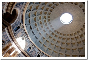 Enlightenment -- in this case, at the Pantheon in Rome