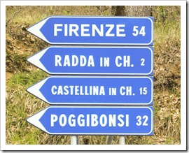 Ah yes, the wine roads of Chianti...