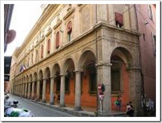 Porticos along Via Zamboni in Bologna