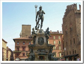 Statue of Neptune in Piazza del Nettuno in Bologna