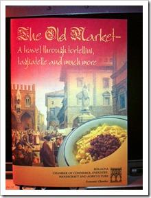 Pick up this English recipe booklet at Piazza della Mercanzia in Bologna