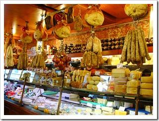 Inside Tamburini, Antica Salsamenteria Bolognese in Bologna