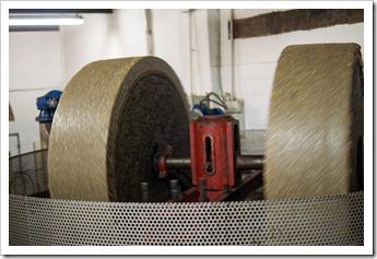 Modern methods still use granite stones to press olives