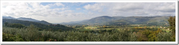 The Val di Chio, or Chio Valley, near Cortona -- filled with olive groves