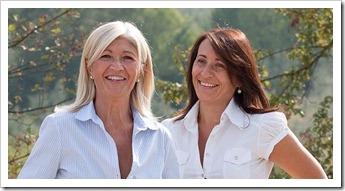 Lidia Castellucci (left) and Roberta Giaccherini of Buccelletti -- che belle donne