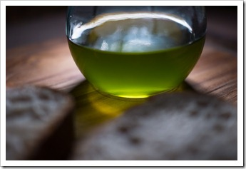Buccelletti Olivolo olive oil, freshly pressed and ready for crusty bread