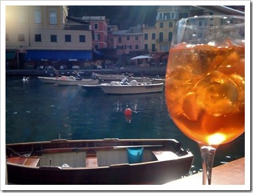 Taking an Aperol Spritz moment in Portofino