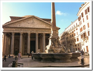 The Pantheon in the heart of Rome's Centro Storico