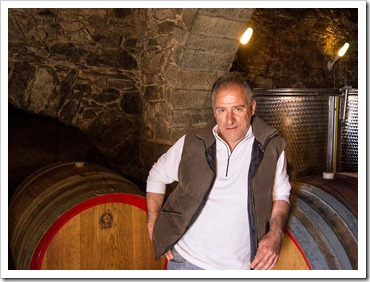 A rare photo of extraordinary winemaker Walter De Battè during my visit to his cantina