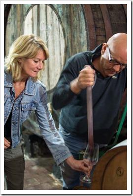 Husband and wife team Ciro & Stephanie Biondi, producing superb Mt. Etna wines