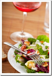 Add a salad and Donnas Rose, and you're set!
