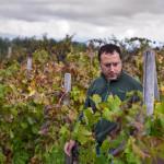 Giuseppe Russo of Girolamo Russo in his vineyard
