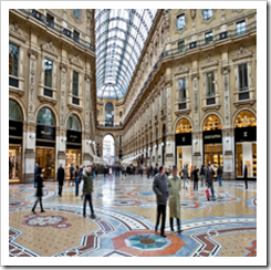 Shopping Mall at Galleria Emmanuel Vittorio III