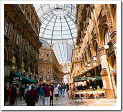 Shopping is fantastic at Galleria Emmanuel Vittorio III
