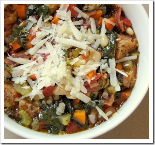 Ribollita is perfect with a glass of Cigliano 2009 Chianti Classico