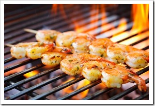 Summer ain't over yet! Grilling shrimp big style