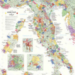 DeLong Wine Map of Italy