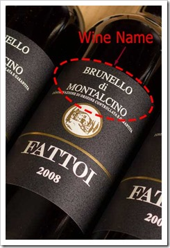 Brunello is made from Sangiovese, but you won't see the grape name on the label