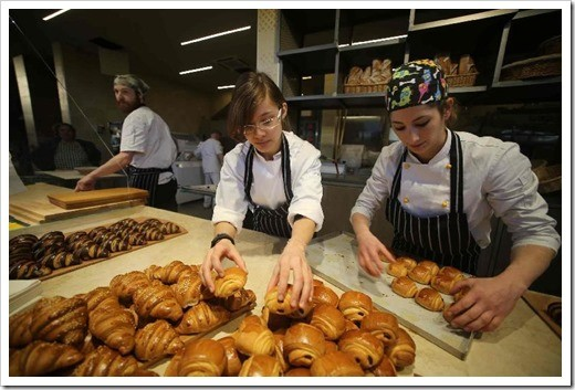 Looks what's cooking: cornetti and other heavenly baked goods await (photo: Marco Mori)