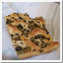 Olive focaccia to die for