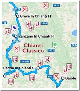SR222 runs through the heart of Chianti Classico