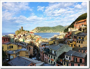 Morning breaks in Vernazza.  Stunning view from my apartment at Casa Cato