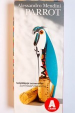 The front of the box for the Alessi Parrot Corkscrew