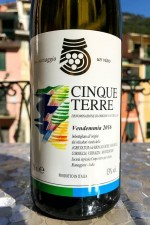 The Cantina Cinque Terre Bianco 'normale' wine was remarkably good and a decent value.