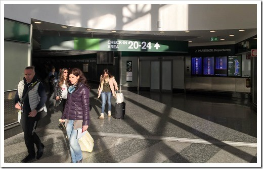 To get to the American carriers flying direct to the US from Malpensa, following the signs to the special check-in area