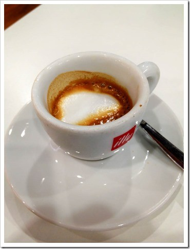 Enjoy an espresso before you depart Malpensa
