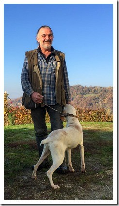 Trifolao Gianni Vaira and his trusty truffle pooch, Dick