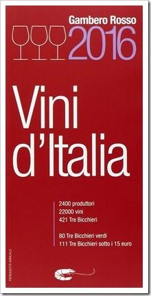 Gambero Rosso's 2016 Vini d'Italia guidebook